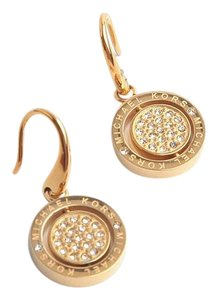 Michael Kors New Michael Kors GOLD SPIN Sparkling Crystal Logo Drop Earrings