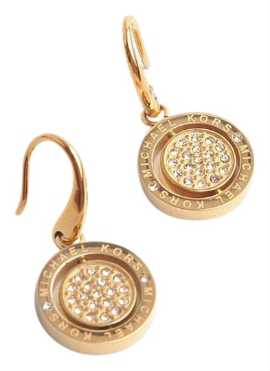 Preload https://img-static.tradesy.com/item/27436946/michael-kors-gold-new-spin-sparkling-crystal-logo-drop-earrings-0-1-540-540.jpg