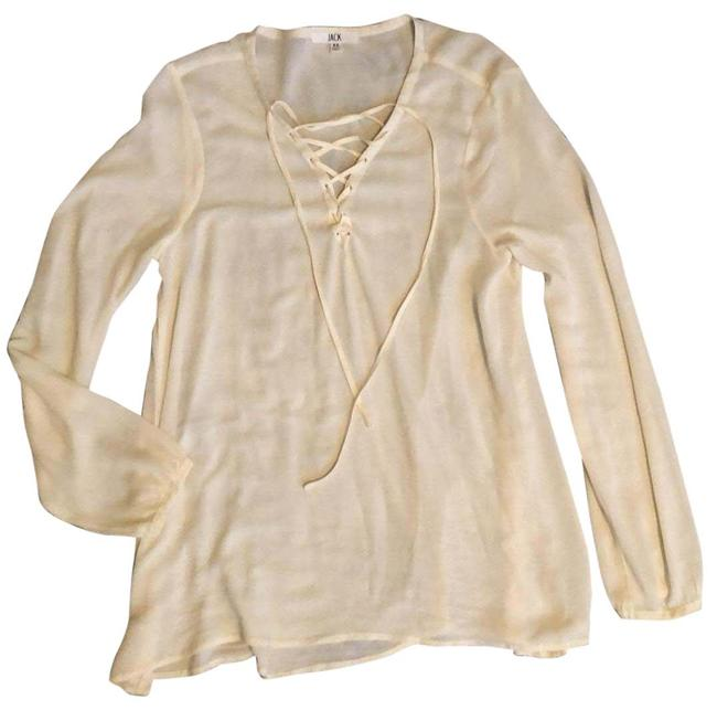 Item - Ivory Lace Up Front Tunic Size 2 (XS)