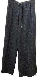Eileen Fisher Wide Leg Pants black and white