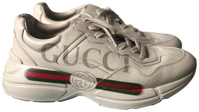 Item - Ivoire Rython Logo Leather Sneakers Size US 9 Wide (C, D)