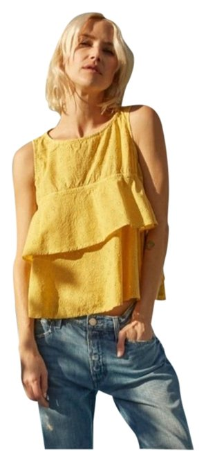 Item - Yellow Gold Flounce In Marigold Tank Top/Cami Size 0 (XS)