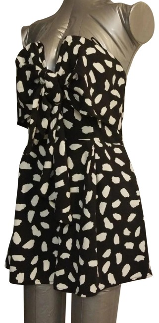 Blue Blush Black Spotted Romper Shorts Size 4 (S, 27) Blue Blush Black Spotted Romper Shorts Size 4 (S, 27) Image 1