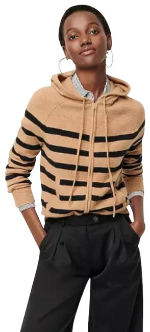 Item - Striped Hoodie In Supersoft Yarn Camel Sweater