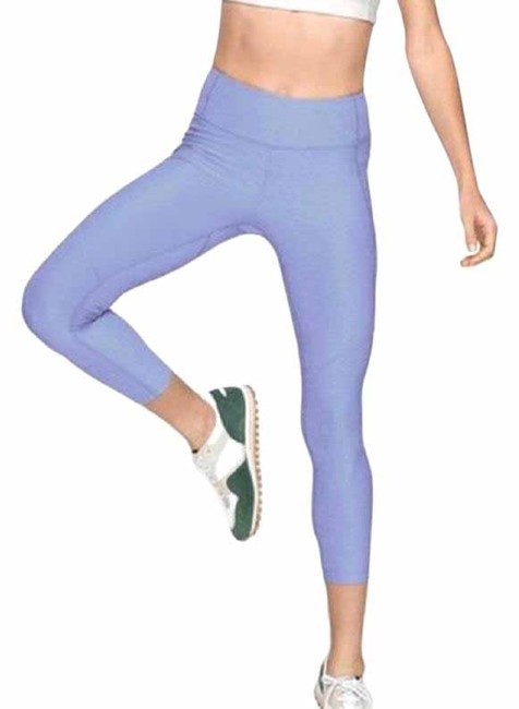 Item - Blue 3/4 Warmup Lilac Activewear Bottoms Size 4 (S, 27)