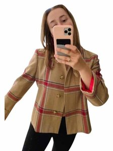 Tommy Hilfiger Red and Tan Jacket