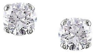Other 10k White Gold Diamond Solitaire Stud Butterfly Earrings 14 Ct Cttw J-k I3
