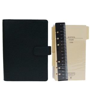 Louis Vuitton LOUIS VUITTON Agenda MM Day Planner Taiga Leather Green