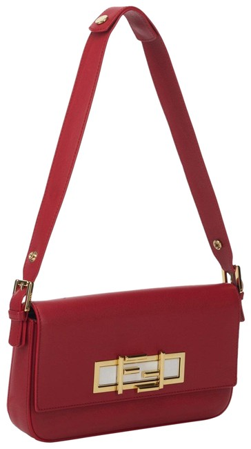 Item - Calfskin Baguetemania Red Leather Baguette