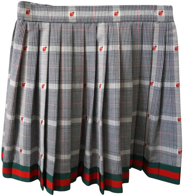Item - Black & Green Girls Classic Houndstooth Ladybug Pleated Red Grosgrain Skirt Size OS (one size)