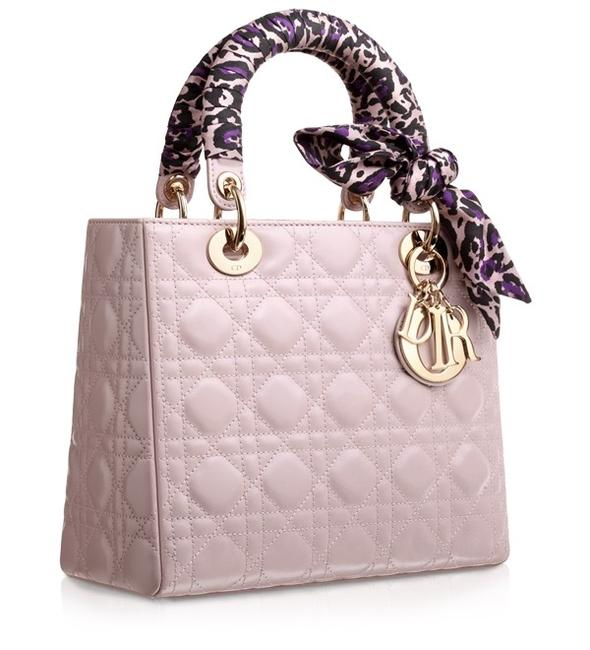 Item - Lady Excellent with Leopard-print Silk Scarf Pale Pink Lambskin Leather Satchel