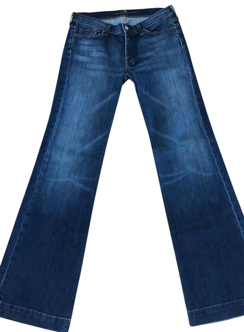 Item - Medium Wash Dojo Trouser/Wide Leg Jeans Size 10 (M, 31)