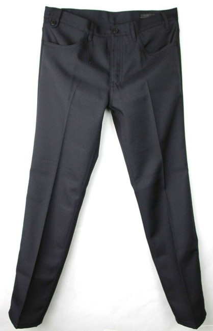 Item - Blue Men's Wool/Silk Pants with Mini Checkered Print 54 Spd91 Groomsman Gift