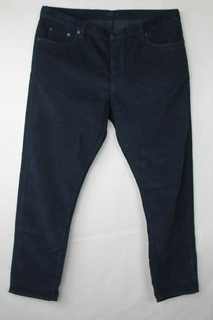 Item - Blue Men's Arsenic Cotton Corduroy Pants with 4 Buttons 38 Gep255 Groomsman Gift