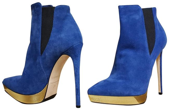 Item - Blue New Suede Leather Platform 36- Boots/Booties Size US 6 Regular (M, B)