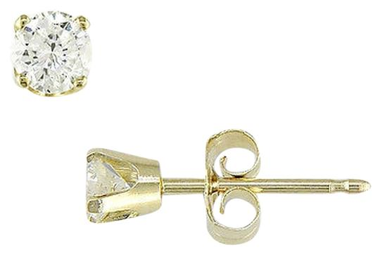 Other 10k Yellow Gold Diamond Square Geometric Stud Earrings 0.2 Cttw H-i I2-i3