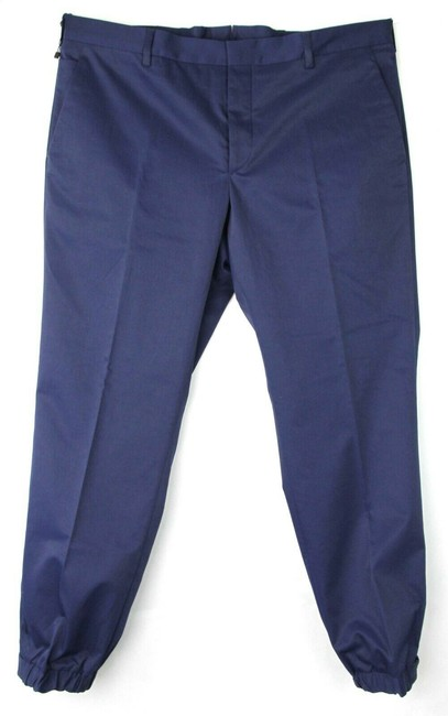 Item - Blue Men's Polyester Pants with 3 Button and Elastic Hem 52 Spf66 Groomsman Gift