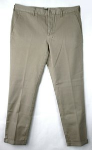 Prada Khaki Brown Men's Cotton Stretch Pants with 3 Button 38 Gep070 Groomsman Gift