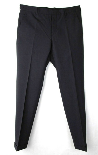 Item - Dark Blue Men's Wool Dress Pants with 3 Button 48 Dna559 S161 R01 Groomsman Gift