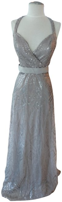 Item - Taupe- Shiny Style # 20484 Long Formal Dress Size 6 (S)