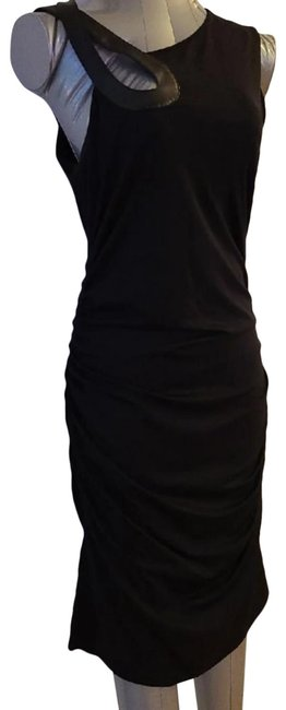Item - Blaxk One Shoulder Mid-length Formal Dress Size Petite 8 (M)