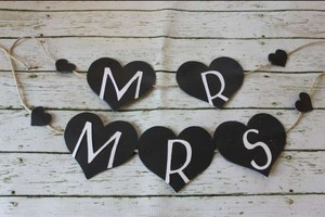 Love Always Mr. & Mrs. Banner Reception Decoration
