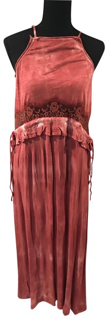 Item - Red Tie Dye Long Casual Maxi Dress Size 4 (S)