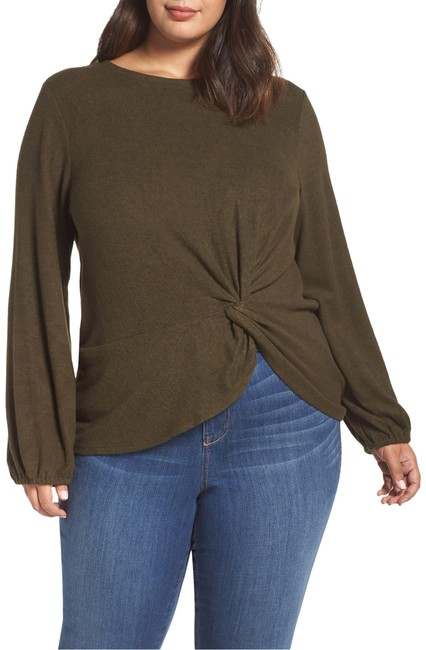 Item - Olive Green Sierra Die Knot Pullover Blouse Size 22 (Plus 2x)