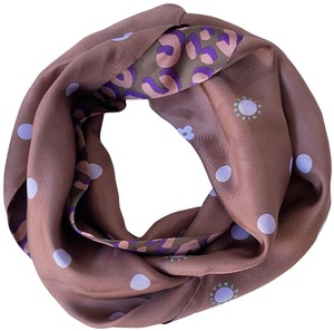 Louis Vuitton Infinity Purple Dotted/Leopard Scarf