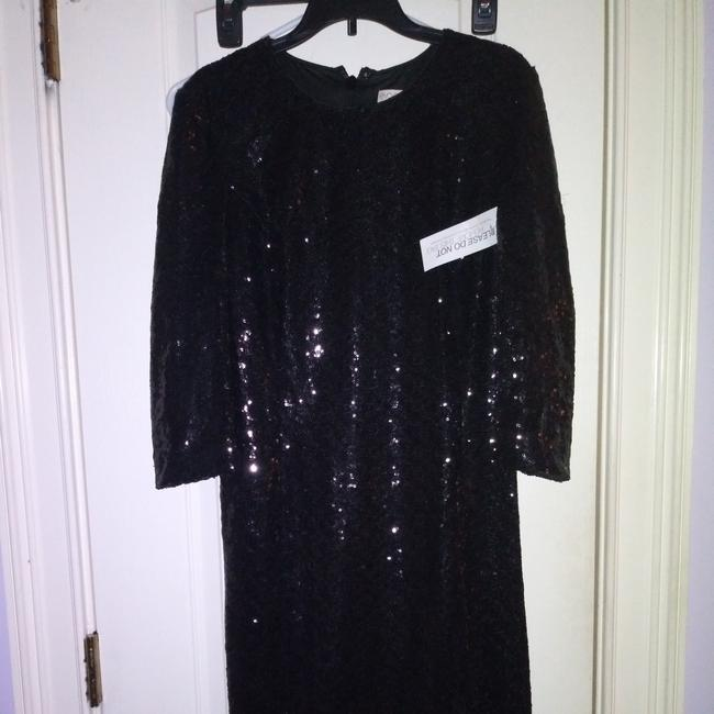 Item - Black Sequin Mid-length Night Out Dress Size 4 (S)