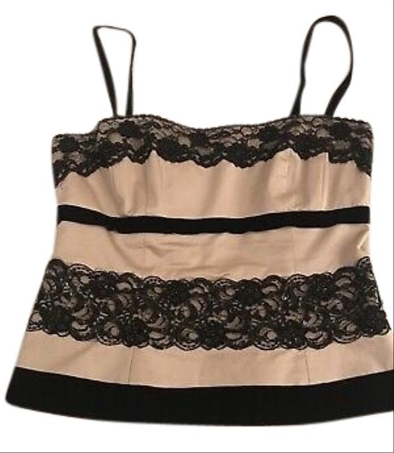 Item - Black Pink Lace Bustier Tank Top/Cami Size 10 (M)
