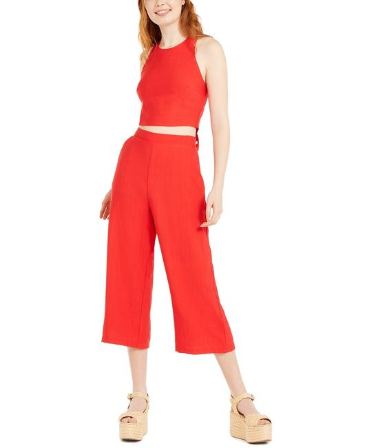 Item - Red Juniors' 2-pc. Bow-back Crop Top & Pants Long Cocktail Dress Size 6 (S)