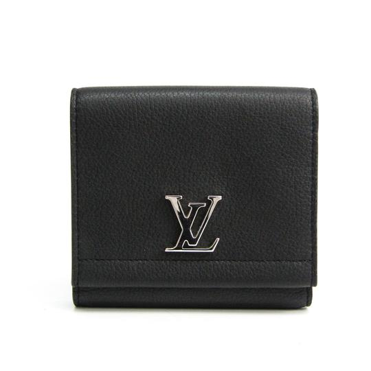 Preload https://img-static.tradesy.com/item/27443427/louis-vuitton-noir-lock-me-ii-m64309-women-s-calf-leather-tri-fold-wallet-0-0-540-540.jpg