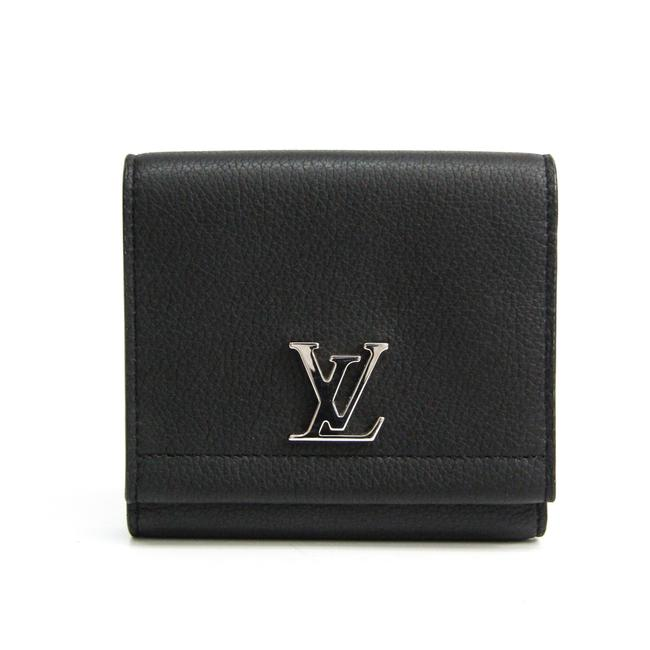 Louis Vuitton Noir Lock Me Ii M64309 Women's Calf Leather (Tri-fold) Wallet Louis Vuitton Noir Lock Me Ii M64309 Women's Calf Leather (Tri-fold) Wallet Image 1