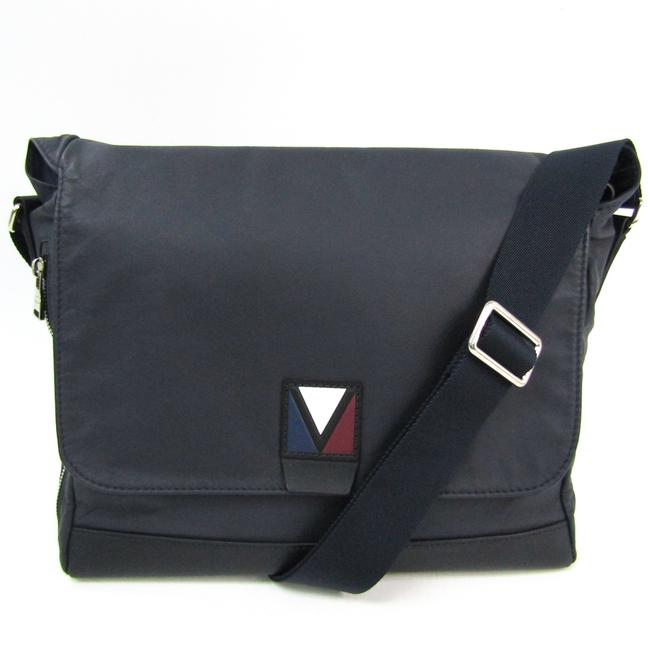 Item - Men's Collection Cross M50442 Men's Navy Leather Messenger Bag