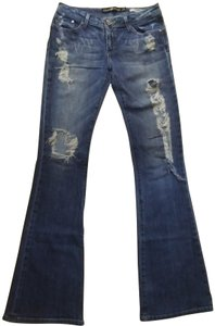 Dylan George Flare Leg Jeans-Distressed