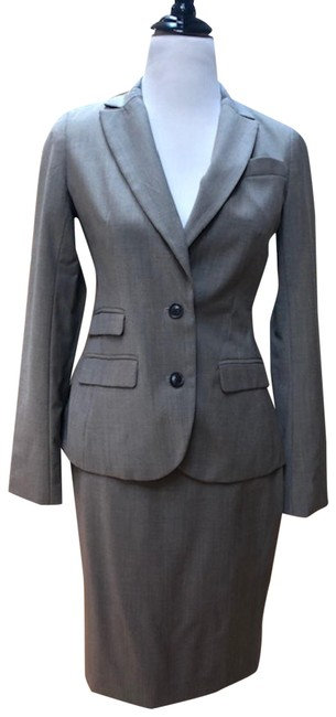 Item - Light Brown Luxe Wool/Polyester Skirt Suit Size 4 (S)