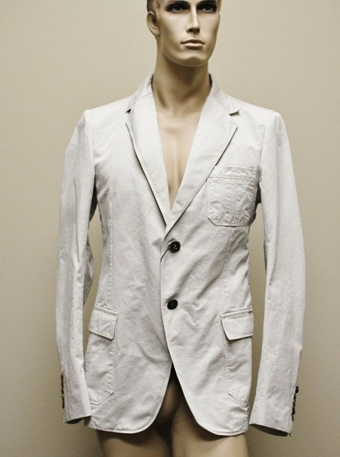 Item - Beige Men's 2 Button Jacket Blazer Eu 60/Us 50 258367 Groomsman Gift