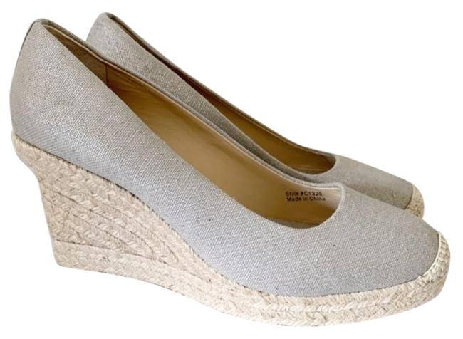 J.Crew Gray Seville Espadrille Canvas Wedges Size US 9 Regular (M, B) J.Crew Gray Seville Espadrille Canvas Wedges Size US 9 Regular (M, B) Image 1