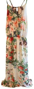 white floral Maxi Dress by FATE