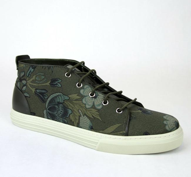 Item - Green 3364 Mens Floral Fabric Lace-up Sneaker 342048 Size 11 G/Us 11.5 Shoes