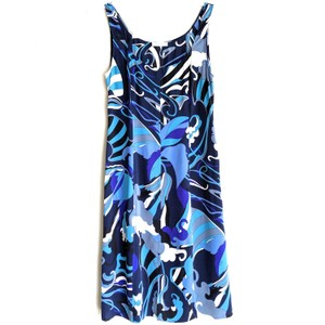 Blue turquoise purple shades Maxi Dress by Emilio Pucci