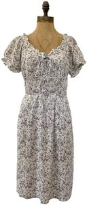 Jalate Jeans short dress Floral Peasant Rayon Puff Sleeve on Tradesy