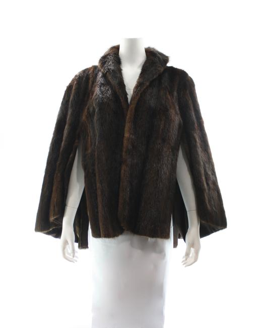 Item - Brown Mink Poncho/Cape Size OS (one size)