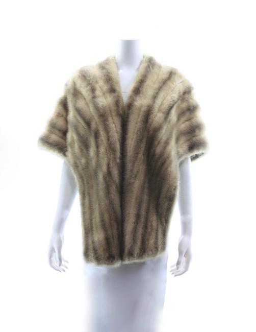 Item - Light Brown Mink Stole Poncho/Cape Size OS (one size)