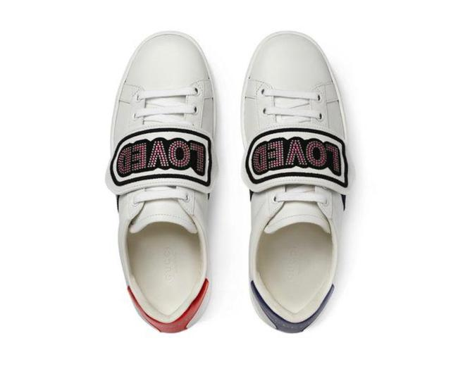 Item - White Ace Removable Love Patches Sneakers Size EU 36 (Approx. US 6) Regular (M, B)