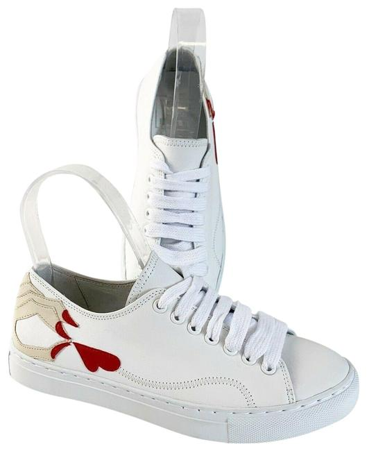 White Leather Fashion Sneakers Size EU 35 (Approx. US 5) Regular (M, B) White Leather Fashion Sneakers Size EU 35 (Approx. US 5) Regular (M, B) Image 1