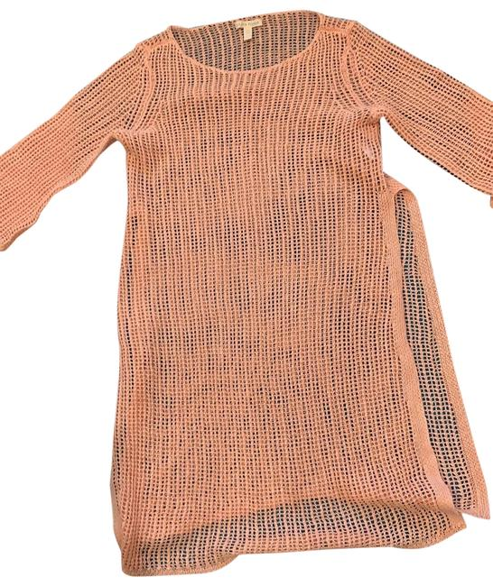 Item - Mesh Tunic Coral Sweater