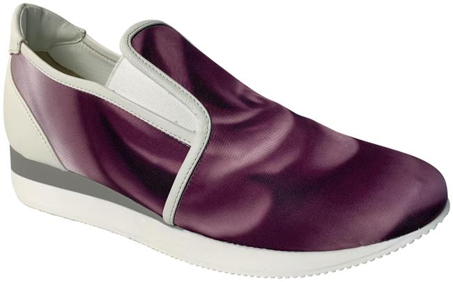 Item - Purple White New and Slip On Sneakers Size US 7.5 Regular (M, B)