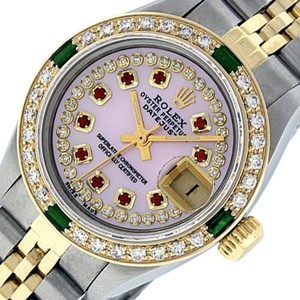 Rolex Ladies Datejust Ss/Yellow Gold with MOP String Ruby Diamond Dial
